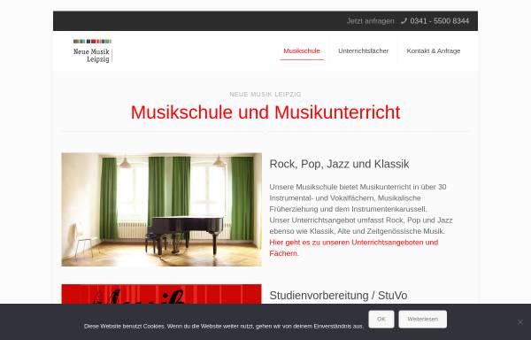 Vorschau von www.neue-musik-leipzig.de, Neue Musik Leipzig