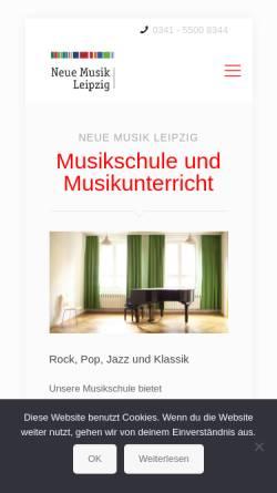 Vorschau der mobilen Webseite www.neue-musik-leipzig.de, Neue Musik Leipzig