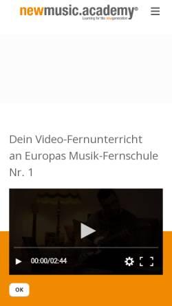 Vorschau der mobilen Webseite www.newmusicacademy.de, Newmusicacademy