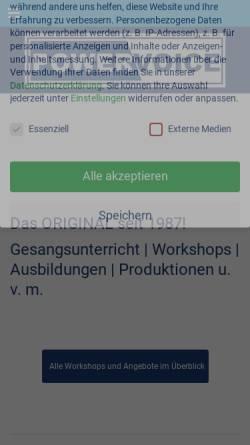 Vorschau der mobilen Webseite powervoice-academy.de, Powervoice