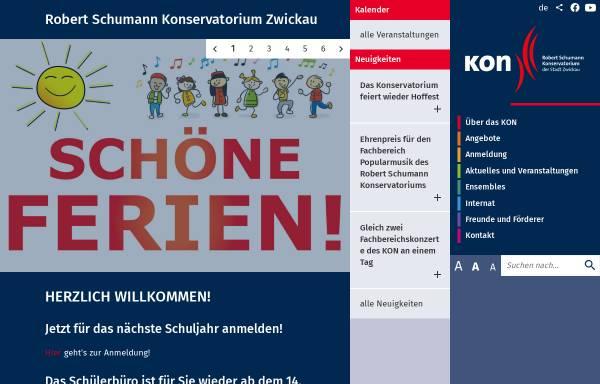 Vorschau von www.musikschulezwickau.de, Robert Schumann Konservatorium der Stadt Zwickau