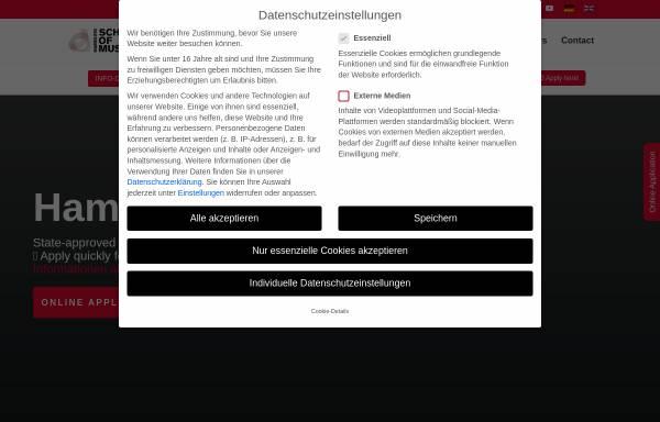 Vorschau von www.theschool.de, Hamburg School of Music
