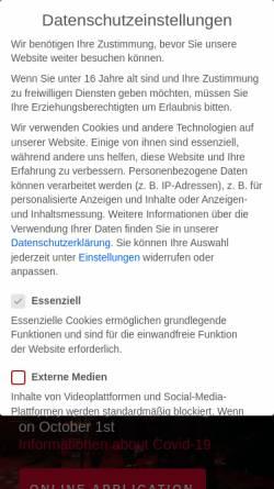 Vorschau der mobilen Webseite www.theschool.de, Hamburg School of Music