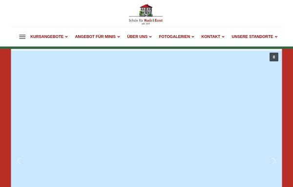 Vorschau von www.musik-kunstschule.de, Schule für Musik & Kunst Gütersloh