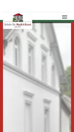 Vorschau der mobilen Webseite www.musik-kunstschule.de, Schule für Musik & Kunst Gütersloh