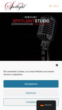 Vorschau der mobilen Webseite www.spotlight-studio.de, Spotlight Studio - Konstanz