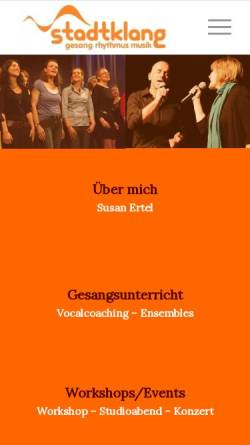 Vorschau der mobilen Webseite www.stadtklang.de, Stadtklang
