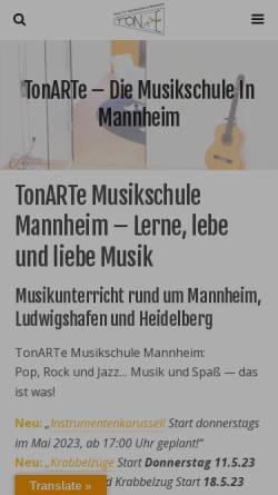 Vorschau der mobilen Webseite www.tonarte.de, Tonarte
