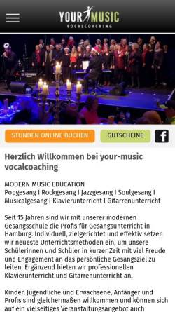 Vorschau der mobilen Webseite www.your-music.de, your-music vocalcoaching