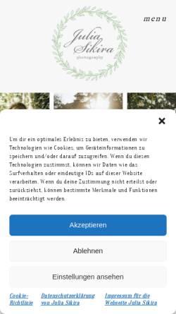 Vorschau der mobilen Webseite www.julia-sikira.com, Sikira, Julia