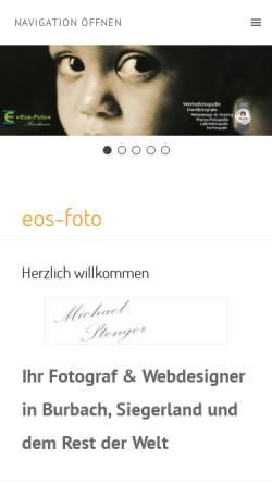 Vorschau der mobilen Webseite eos-foto.de, Stenger, Michael