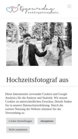 Vorschau der mobilen Webseite www.itsyourday.at, Itsyourday wedding photography