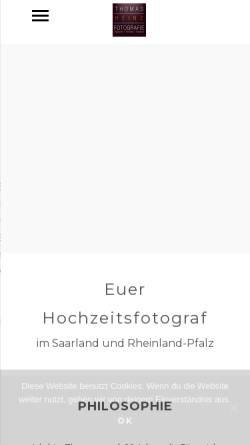 Vorschau der mobilen Webseite heinz-fotografie.de, Heinz, Thomas