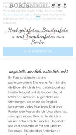 Vorschau der mobilen Webseite borismehl.de, Mehl, Boris
