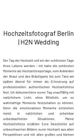 Vorschau der mobilen Webseite berlin-hochzeitsfotograf.net, Hochzeitsfotograf - H2N Wedding