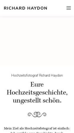 Vorschau der mobilen Webseite richardhaydon.ch, Haydon, Richard