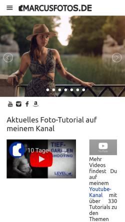 Vorschau der mobilen Webseite marcusfotos.de, Marcusfotos - Fotografieren lernen