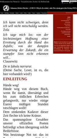 Vorschau der mobilen Webseite nemesis.marxists.org, Johannes Robert Becher: (CHCl=CH)3As (Levisite) oder Der einzig gerechte Krieg (1925)