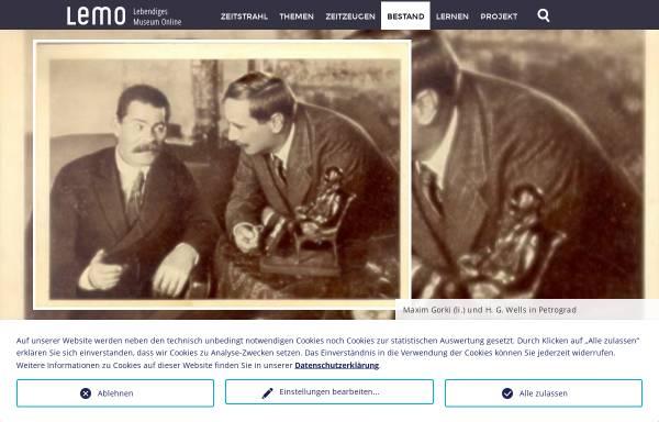 Vorschau von www.dhm.de, Biographie: Maxim Gorki, 1868-1936