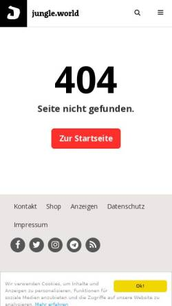 Vorschau der mobilen Webseite jungle-world.com, Judith Hermann: Sommerhaus, später