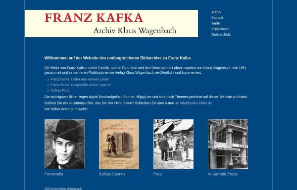 Vorschau von kafka-bilder.de, Franz Kafka Archiv Klaus Wagenbach