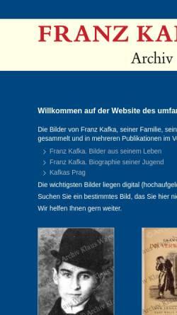 Vorschau der mobilen Webseite kafka-bilder.de, Franz Kafka Archiv Klaus Wagenbach