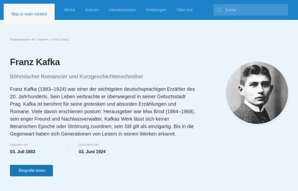 vorschau von wwwinhaltsangabede franz kafka biografie und inhaltsangaben - Franz Kafka Lebenslauf