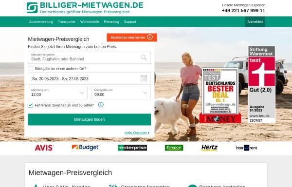 Vorschau von www.billiger-mietwagen.de, Billiger-mietwagen.de, SilverTours GmbH