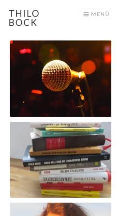 Vorschau der mobilen Webseite www.thilobock.de, Thilo Bock