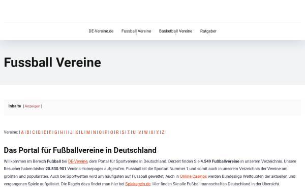 Vorschau von fussball.de-vereine.de, Fußballvereine in Deutschland