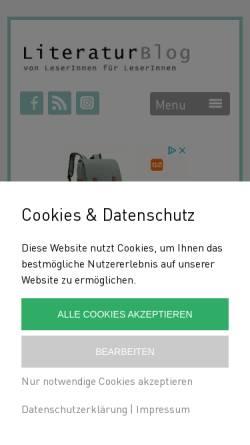 Vorschau der mobilen Webseite www.literatur-blog.at, Literatur Blog