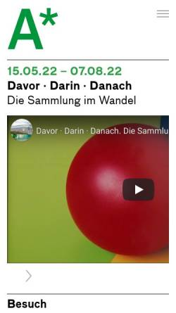 Vorschau der mobilen Webseite www.aargauerkunsthaus.ch, Aargauer Kunsthaus
