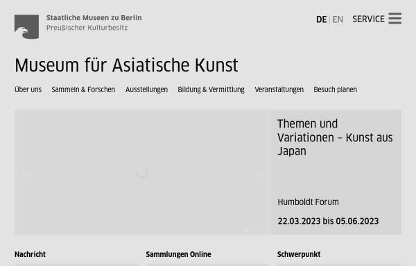 Vorschau von www.smb.museum, Berlin, Museum für Asiatische Kunst