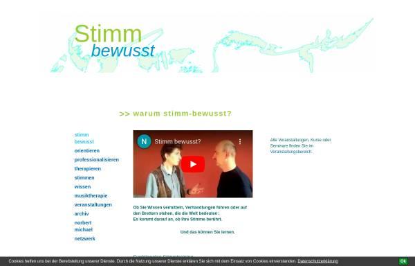 Vorschau von stimm-bewusst.de, Stimm-bewusst