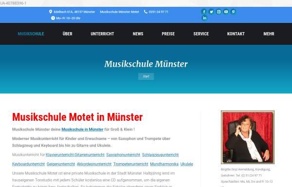 Vorschau von www.musikschule-motet.de, Musikschule Münster Motet, Jan Gryz