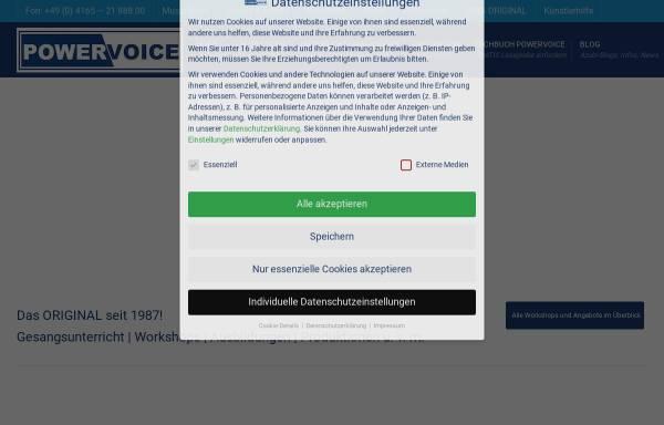 Vorschau von powervoice.de, Powervoice, Andrés Balhorn