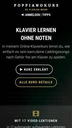 Vorschau der mobilen Webseite www.poppianokurs.de, PopPianoKurs