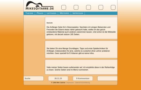 Vorschau von www.mikesgitarre.de, MikesGitarre.de