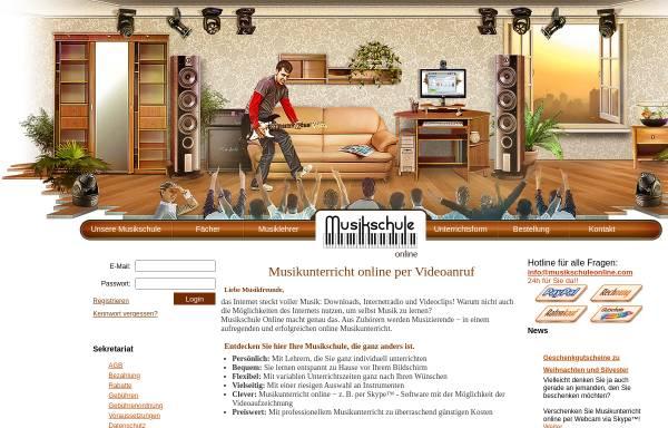 Vorschau von www.musikschuleonline.com, Musikschule Online GbR