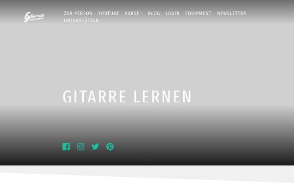 Vorschau von www.gitarrenvideounterricht.de, Gitarrenvideounterricht.de