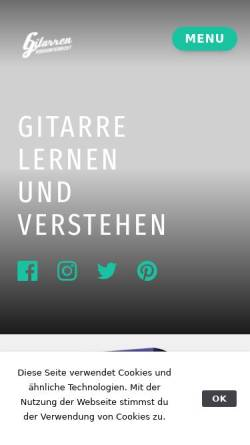 Vorschau der mobilen Webseite www.gitarrenvideounterricht.de, Gitarrenvideounterricht.de