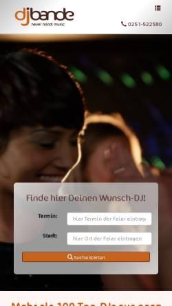 Vorschau der mobilen Webseite www.dj-bande.de, Michael Knüfer, dj-bande / never mind! music