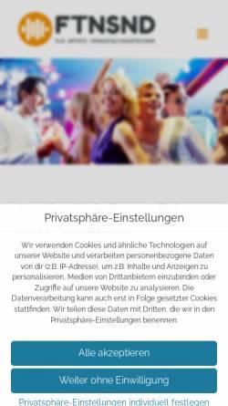 Vorschau der mobilen Webseite www.fetensound.de, Silvester DJ Lutz Scheffler