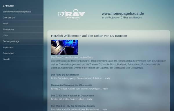 Vorschau von homepagehaus.de, Ray Kirsch mobile Diskothek
