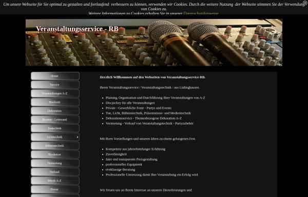 Vorschau von www.veranstaltungsservice-rb.de, Veranstaltungsservice-RB