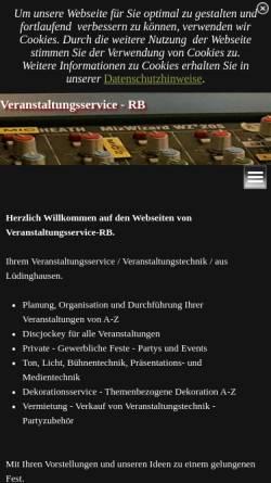 Vorschau der mobilen Webseite www.veranstaltungsservice-rb.de, Veranstaltungsservice-RB
