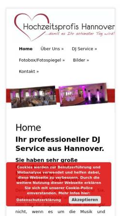 Vorschau der mobilen Webseite www.hochzeitsprofis-hannover.de, Hochzeitsprofis Hannover