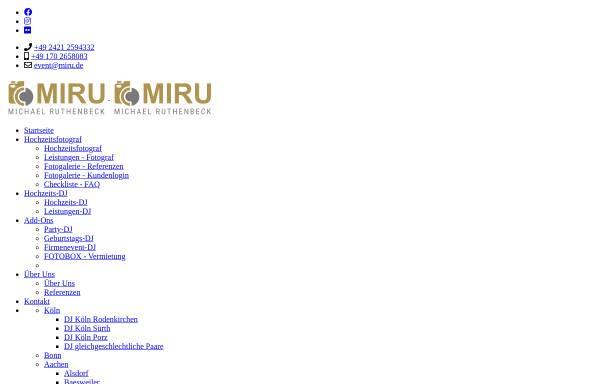 Vorschau von www.miru.de, DJ Miru