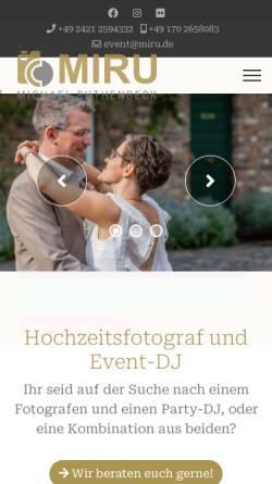 Vorschau der mobilen Webseite www.miru.de, DJ Miru