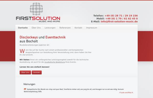 Vorschau von www.first-solution-music.de, First Solution Kortenhorn GbR